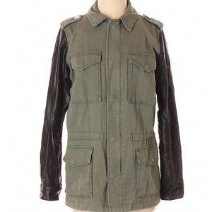 🧥UO Ecote Olive Utility Vegan Leather Jacket